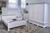 Sypialnia  biała, Skład zestawu-szafa, łóżko, komoda,, toaletka, dwie szafki..